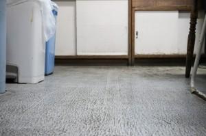 厨房は床を中心に掃除を行いました