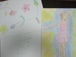 花のイラスト  イチロー選手 バレリーナ