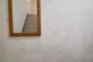 汚れていた壁が→