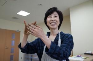 粘土の先生である加藤さん 実はお伊勢の森の職員でもあります。