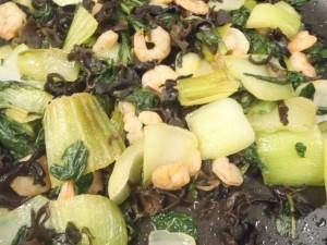 えびと青梗菜の炒め物